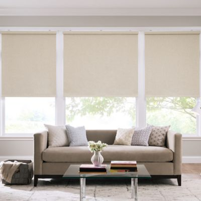 Real Simple® Cordless Linen Look Roller 60-Inch x 74-Inch Shade in Parchment