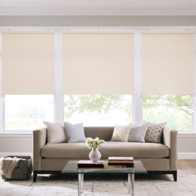 Real Simple® Cordless Cotton Twill Roller 72-Inch x 74-Inch Shade in Cream