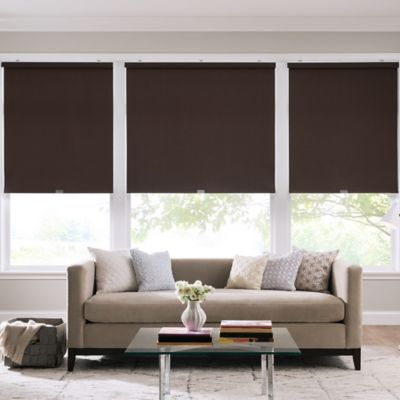 Real Simple® Cordless Cotton Twill Roller 63-Inch x 74-Inch Shade in Coffee