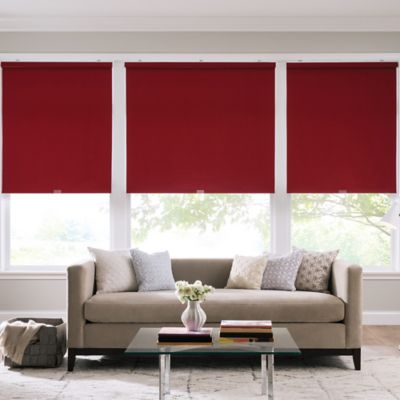Real Simple® Cordless Cotton Twill Roller 64-Inch x 74-Inch Shade in Crimson