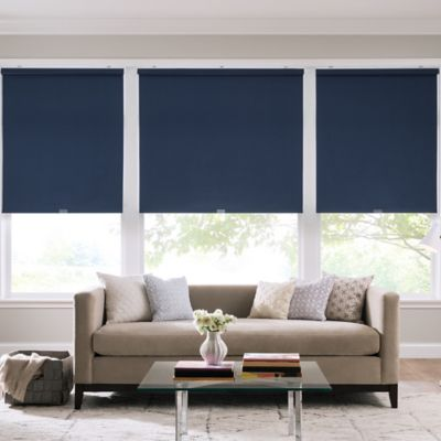 Real Simple® Cordless Cotton Twill Roller 61-Inch x 74-Inch Shade in Indigo