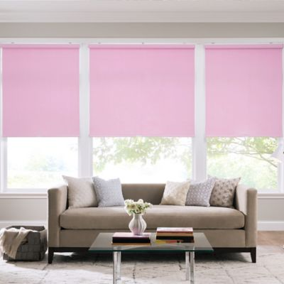 Real Simple® Cordless Cotton Twill Roller 65-Inch x 74-Inch Shade in Pink