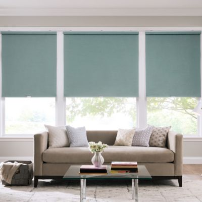 Real Simple® Cordless Faux Silk Roller 70-Inch x 74-Inch Shade in Sea Mist