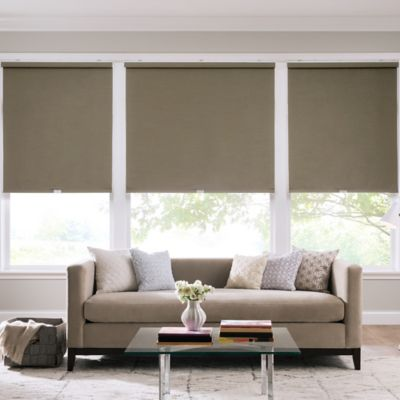 Real Simple® Cordless Faux Silk Roller 63-Inch x 66-Inch Shade in Safari