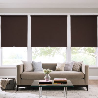 Real Simple® Cordless Faux Silk Roller 58-Inch x 74-Inch Shade in D.Chocolate