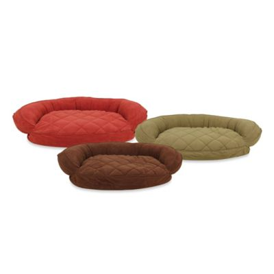 Carolina Pet Company Extra-Large Quilted Pet Bed with Moisture Barrier Protection in Earth Red