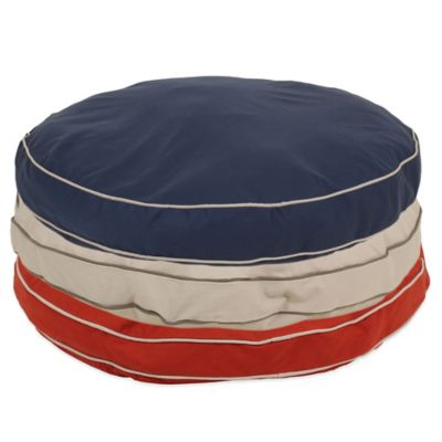 Carolina Pet Company Large Classic Canvas Round-a-Bout Pet Bed in Blue