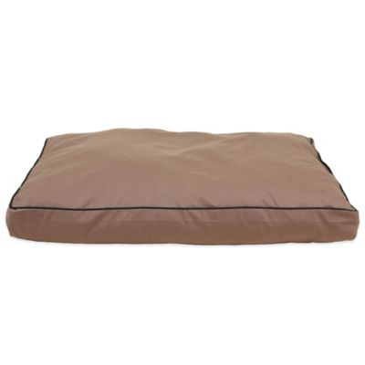 Carolina Pet Company Small Indoor/Outdoor Faux Gusset Jamison Pet Bed in Tan