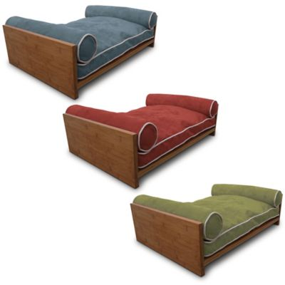 Pet Lounge Studios Bambu Ultra-Suede Pet Daybed in Berry Blue