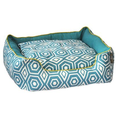 EZ Living Home™ Honeycomb Medium Water-Repellent Pet Couch Bed in Turquoise