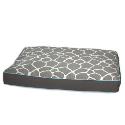 EZ Living Home™ Giraffe Memory Foam Medium Water-Repellent Pet Pillow Bed in Grey