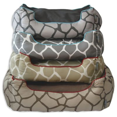 EZ Living Home™ Giraffe Medium Water-Repellent Pet Couch Bed in Khaki on Brown
