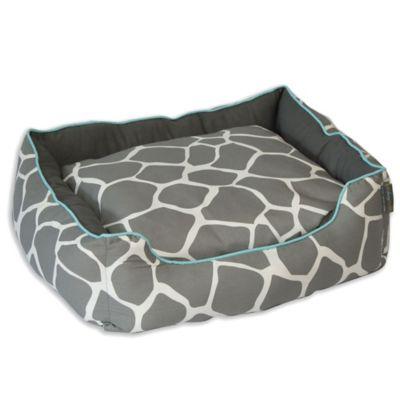 Grey Black Pet Bed
