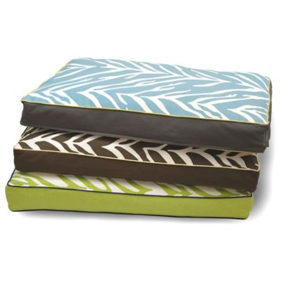 EZ Living Home™ Zebra Memory Foam Medium Water-Repellent Pet Pillow Bed in Lime