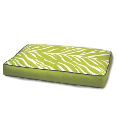 EZ Living Home™ Zebra Memory Foam Medium Water-Repellent Pet Pillow Bed in Lime
