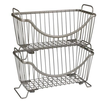 Spectrum™ Small Stackable Basket in Satin Nickel