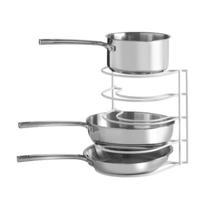 Grayline Pot And Pan Organizer Rack in White