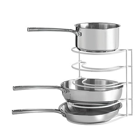 grayline pot and pan organizer rack bed bath beyond. Black Bedroom Furniture Sets. Home Design Ideas