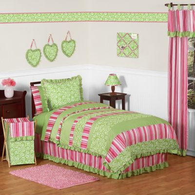 Sweet Jojo Designs Olivia 4-Piece Twin Comforter Set