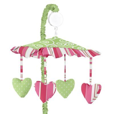 Sweet Jojo Designs Olivia Musical Mobile in Pink and Green