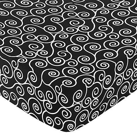 Sweet Jojo Designs Madison Scroll Print Fitted Crib Sheet