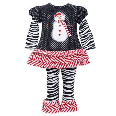Bonnie Jean Size 4T 2-Piece Snowgirl Pant Set