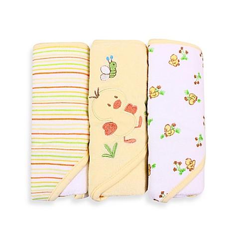Bath Towels Gt Spasilk 174 Baby Stripe Duck Applique Duck