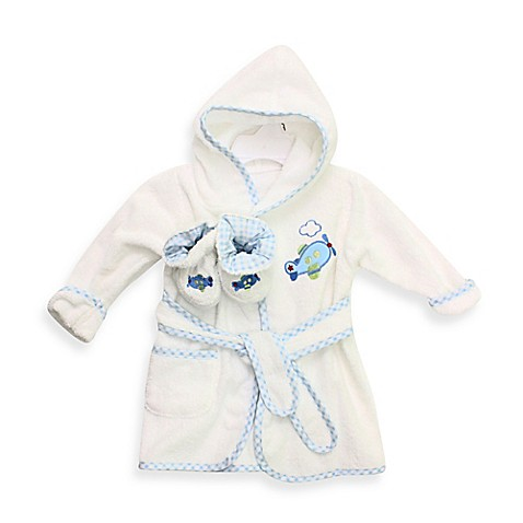 Bath Robes Gt Spasilk 174 Baby Size 0 9m Airplane Hooded Terry