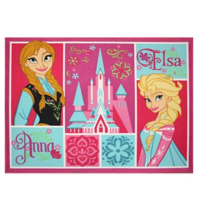 "Disney® ""Frozen"" Patchwork 3-Foot 4-Inch X 4-Foot 2-Inch Accent Rug"