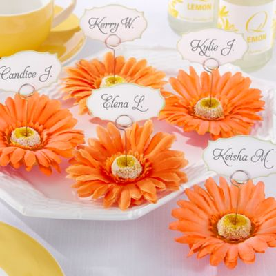 Kate Aspen Petal Pretty Gerbera Daisy Place Card/Photo Holders (Set of 6)