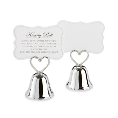 "Kate Aspen® ""Kissing Bell"" Place Card/Photo Holders (Set of 24)"
