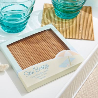 Kate Aspen® Sea Breeze Bamboo Coasters (Set of 4)