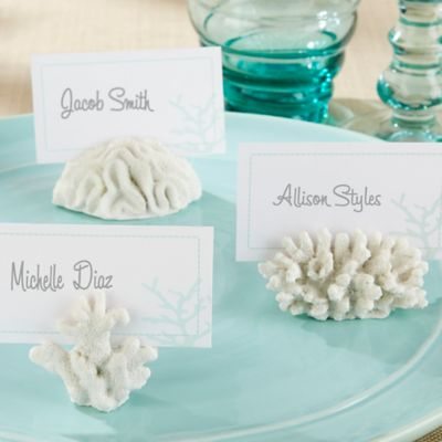 Kate Aspen® Seven Seas Coral Place Card/Photo Holders (Set of 6)