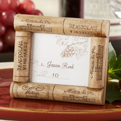 Kate Aspen® Viva La Vin Cork Place Card/Photo Frame