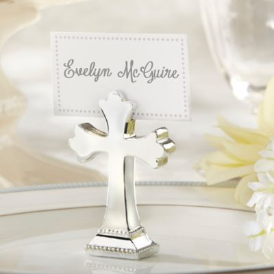 Kate Aspen® Sacrament Cross Place Card/Photo Holders (Set of 6)