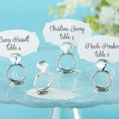 "Kate Aspen® ""With This Ring"" Jeweled Place Card/Photo Holders (Set of 6)"