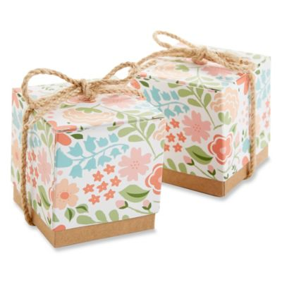 Kate Aspen® Vintage Floral Favor Boxes (Set of 24)