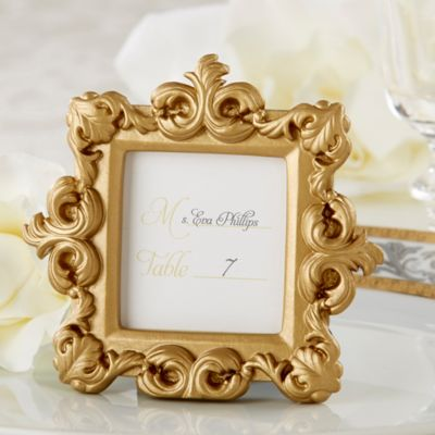 "Kate Aspen® ""Royale"" Gold Baroque Place Card/Photo Holder"