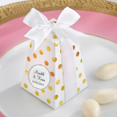 Kate Aspen® Confetti Favor Boxes in Gold Dot (Set of 24)