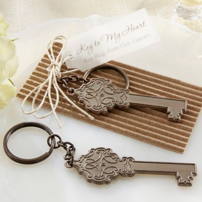 Kate Aspen® Key to My Heart Antique Keychain