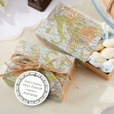 "Kate Aspen® ""Around the World"" Map Favor Box (Set of 24)"
