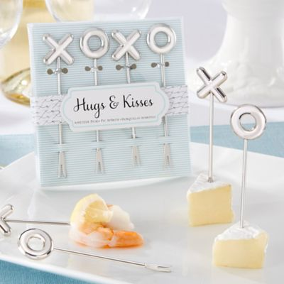 Kate Aspen® Hugs & Kisses Stainless Steel Appetizer Picks (Set of 4)