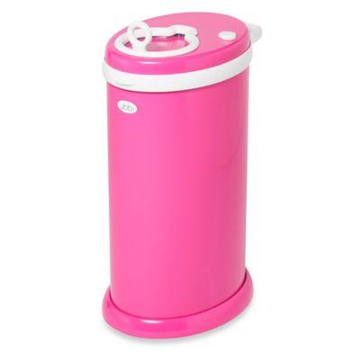 Ubbi® Diaper Pail in Hot Pink