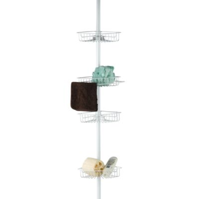 4-Shelf Tension Pole Shower Caddy