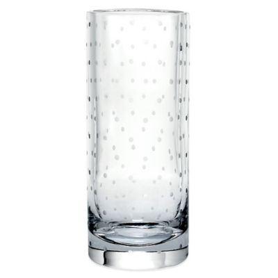 kate spade new york Larabee Dot™ Crystal 10-Inch CylinderVase