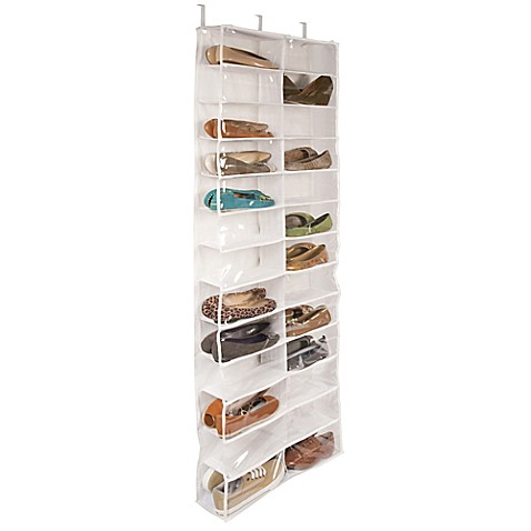 buy closetware clear over the door 26 pocket shoe organizer from bed bath beyond. Black Bedroom Furniture Sets. Home Design Ideas