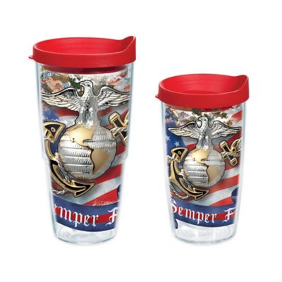 Tervis® Marines Eagle and Anchor Wrap 24 oz. Tumbler with Lid