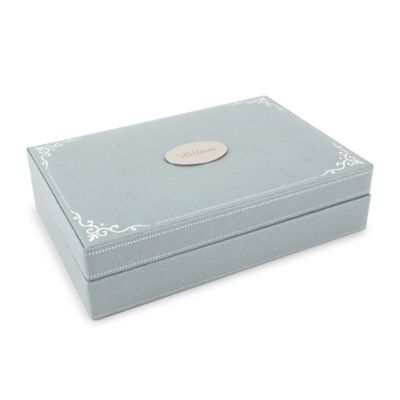 Wolf Designs Baby Keepsake Box in Blue