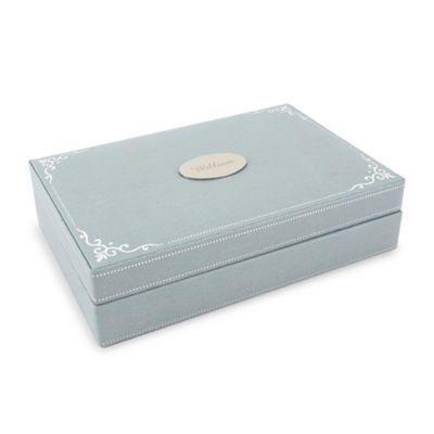 Wolf Designs Baby Keepsake Box in Blue
