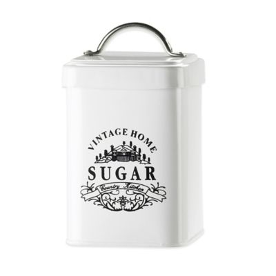 Global Amici Vintage Home Sugar Canister in White